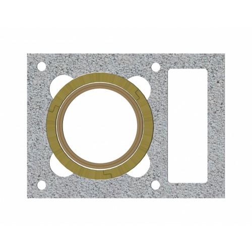ZAPEL UNI  38x52x24 Ø 200 0.66 metro  Keramikiniai kaminai su ventiliacija