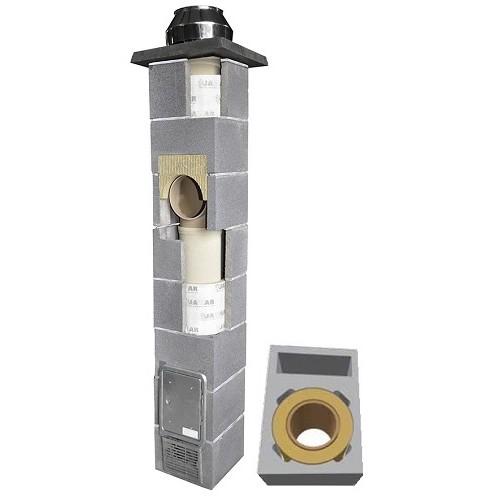 Jawar Universal Plius  36x50 Ø 200 4metrai  Keraminis kaminas su ventiliacija