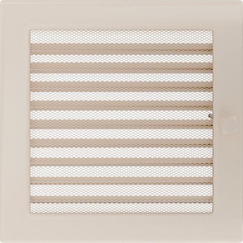 Standartinės kreminės židinio grotelės 22x22 su žaliuzi